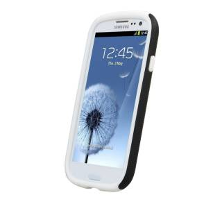 ETUI POKROWIEC DOUBLE LAYER KUBALT GALAXY SIII I9300 black/white  MELKCO