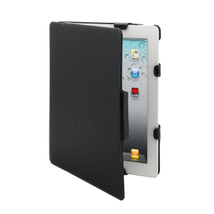 ETUI POKROWIEC LEATHER KIOS TYPE IPAD2/3 black MELKCO